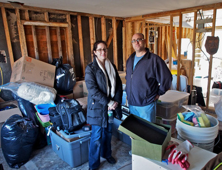 Jeffrey and Erica Press, homeowners on Barnes Avenue, say that dealing with Sandy�s aftermath is a full-time job.