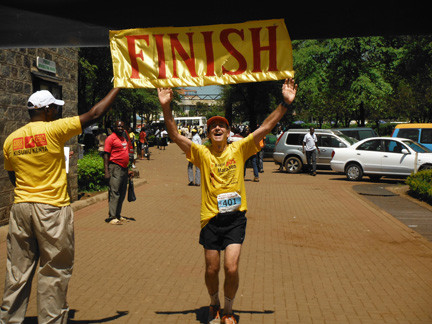 BraIn cancer and HIV survivor Richard Brodsky completed the seventh annual 2012 World AIDS Marathon in Kenya in 4 hours and 43 minutes. He has run a total of 39 marathons  � after being diagnosed brain cancer in 2002.