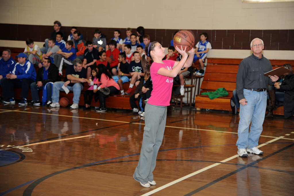 Katie Zammit, 13, put up a shot.