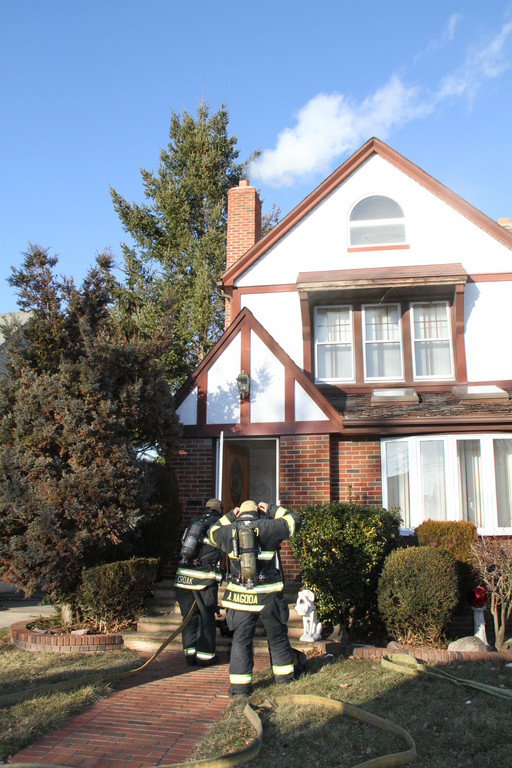 Firefighters battled a blaze at an East Beverly Parkway in Valley Stream home on Jan. 24.