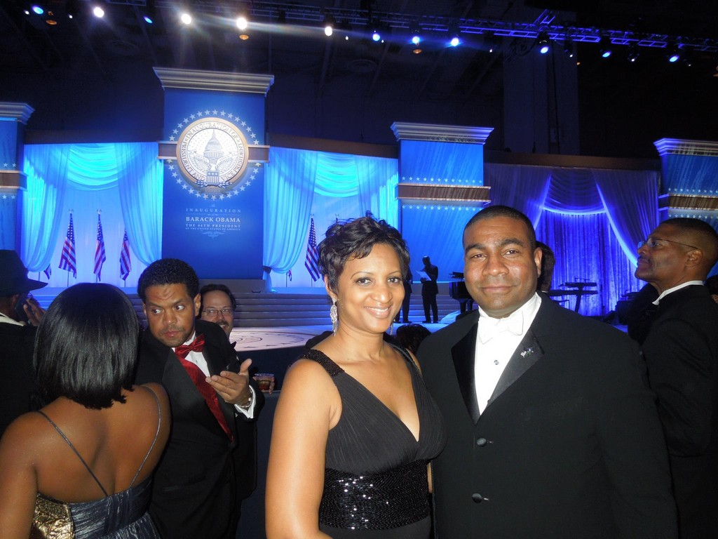 Kimberly and Dermond Thomas attended the Inaugural Ball on Jan. 21 and saw the Obamas share a dance just a few feet away.