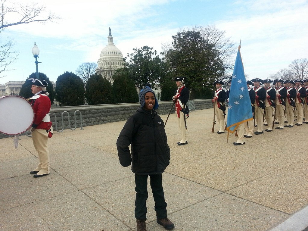 "Alexander Douglas, a fourth-grader at the Howell Road School, said his experience in Washington D.C. was ""amazing."""