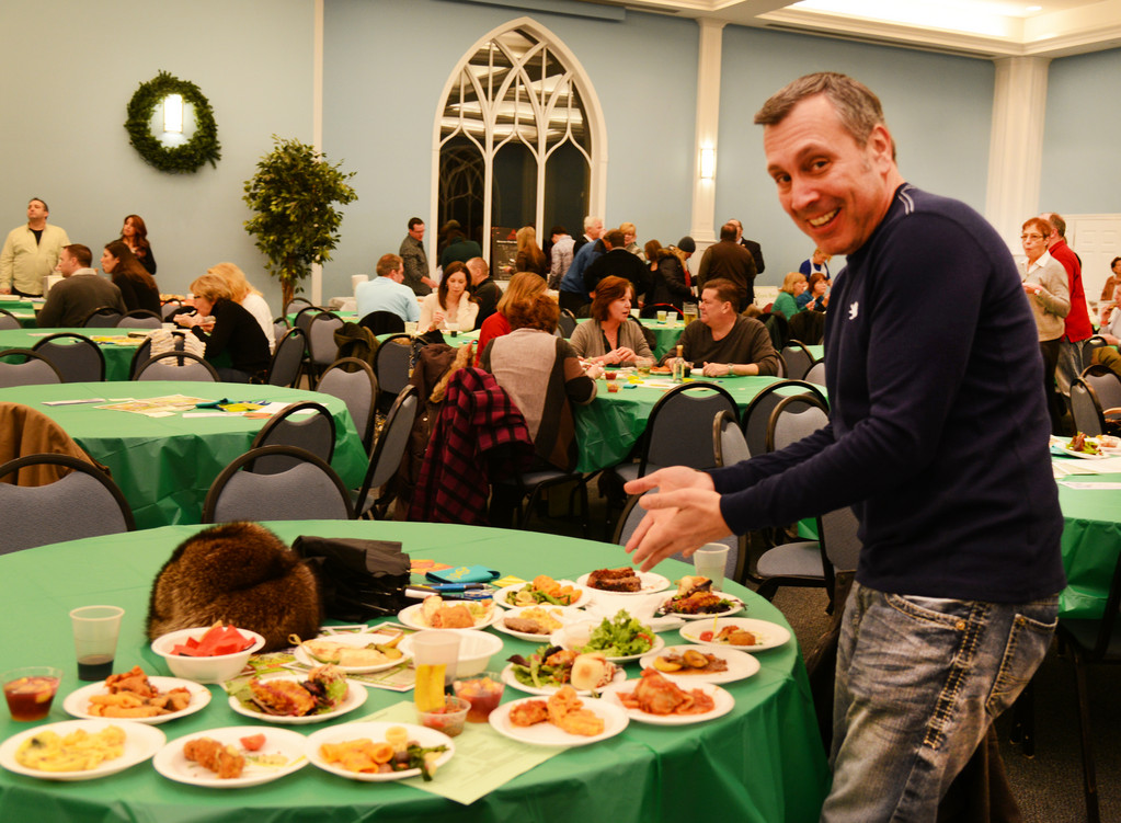 Dave Wilensky grabbed a plate of the offerings from every restaurant.