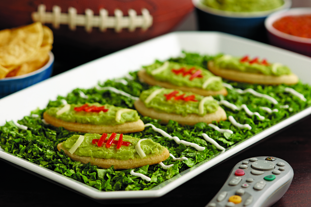Serve up some guacamole in these Homegating Snackers.