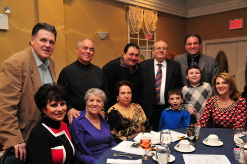 The Carusone table was filled with family and friends, there to honor Vincent and Joseph.
