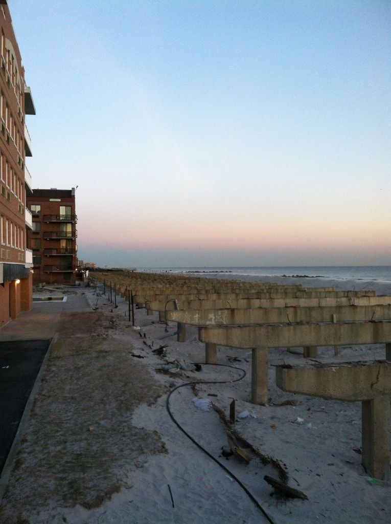 What remains of the boardwalk at New York Avenue. The removal of the structure is nearly complete.