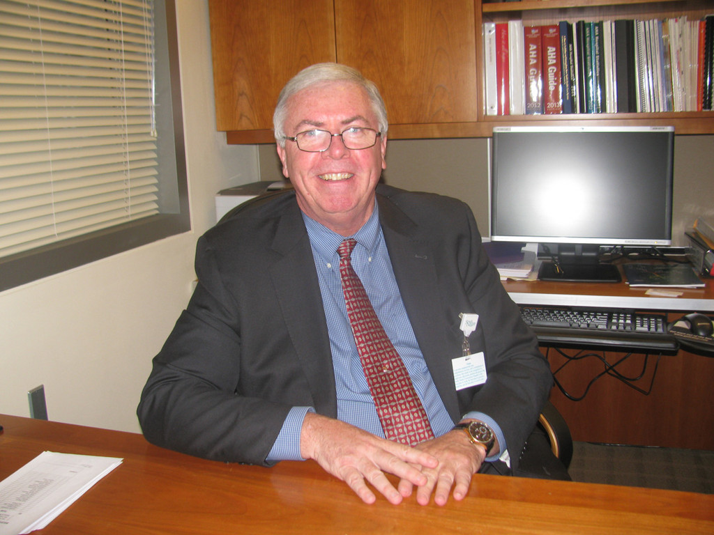 Richard Murphy, the new chief operating officer of South Nassau Communities Hospital.