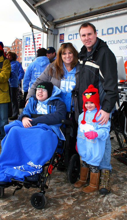 Connor Troy, 12, who recived a gift from Make-A-Wish Foundation. He is pictured with his mother, Kerry Ann, father Chris and sister Katie, 4. Missing from family photo is