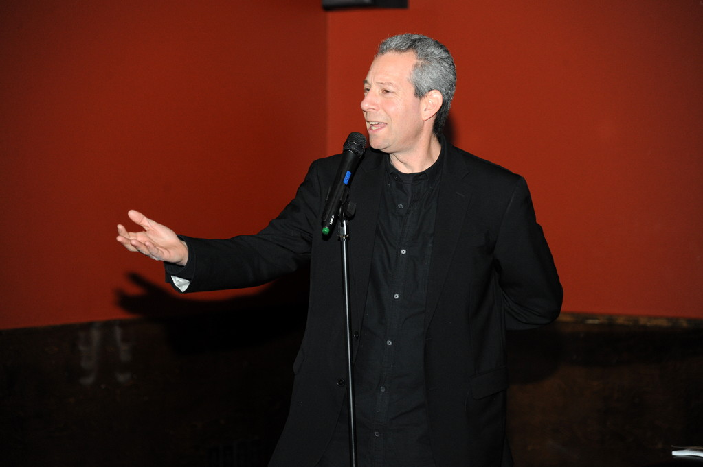 Comedian Barry Weintraub during his time onstage at comedy night.