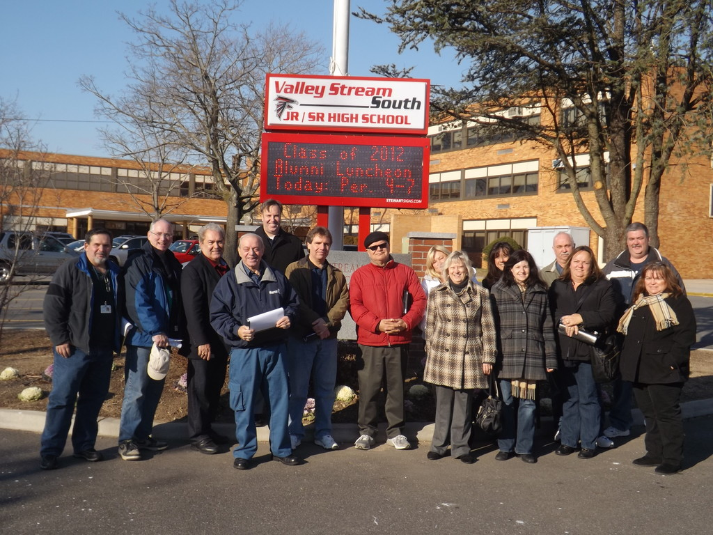 During the Building Tour on Jan. 5, school officials got a look at the new electronic sign outside South High School.