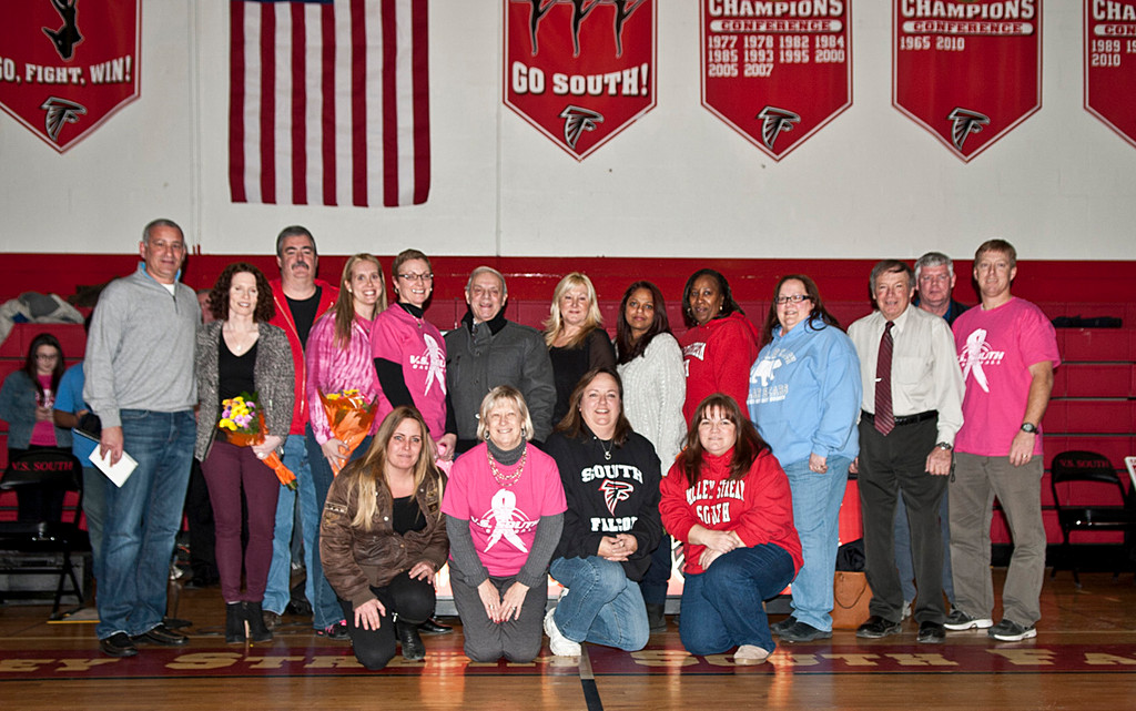 The South High School Parents Club thanked its benefactors between basketball games on Jan. 25.