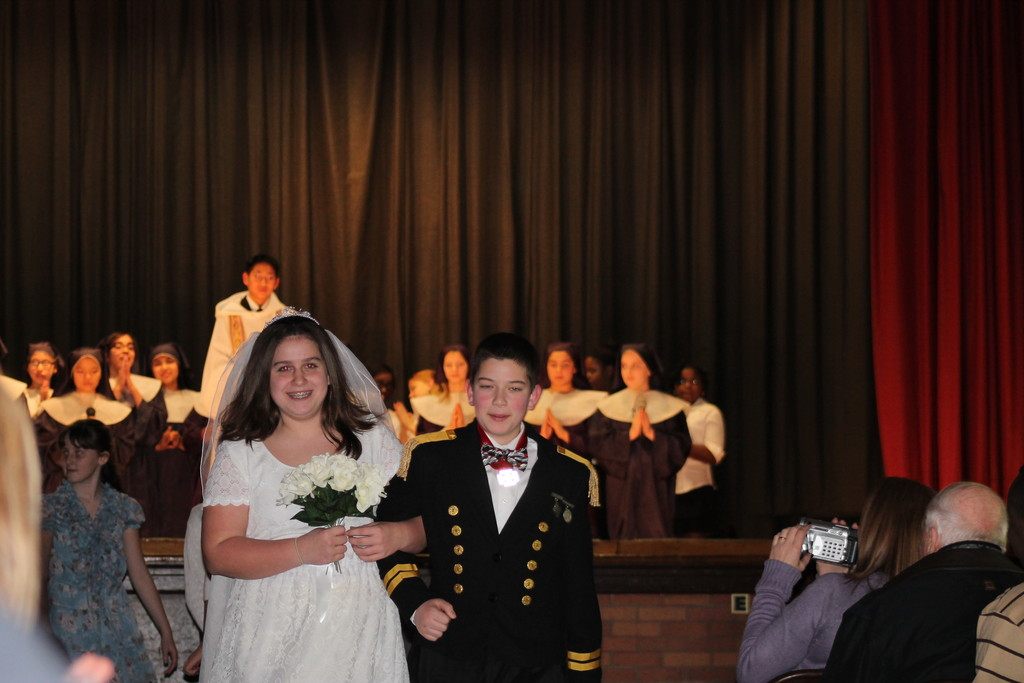 "Deidre Kassebaum and Kevin Glaittli started in the school's production of ""The Sound of Music."""