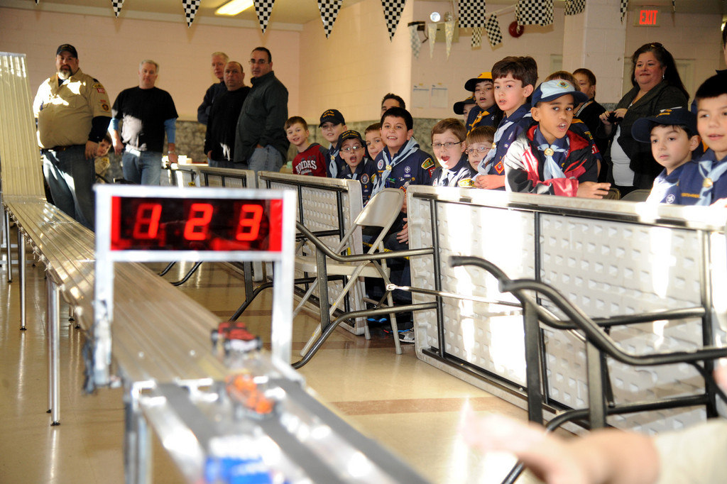 Cub Scouts from Pack 367 were excited for the annual Pinewood Derby, which was held on Jan. 27 at Holy Name of Mary School.