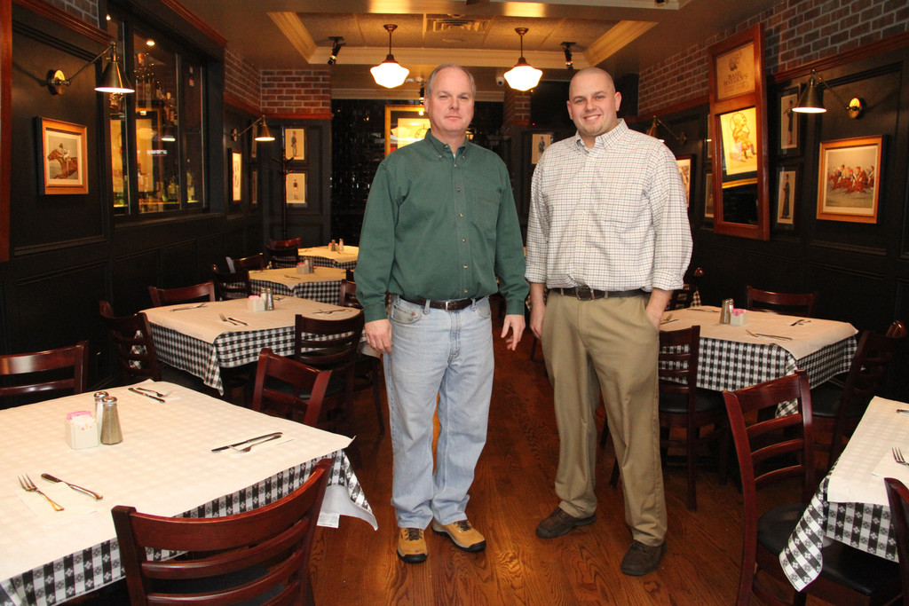 Churchill's owner Kevin Culhane, left, and his Manager Brent Mallon in their new dining room expansion.