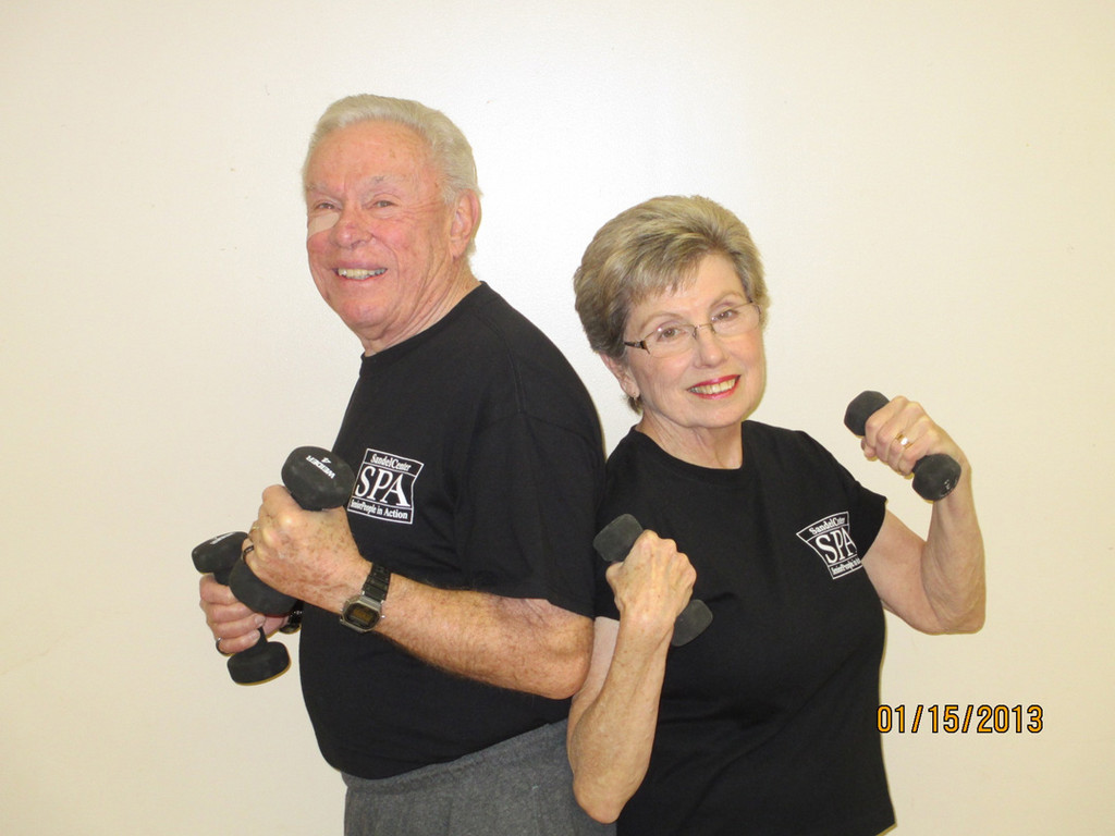 John and Claire Kirkwood have improved their lives by exercising at the Sandel Center.