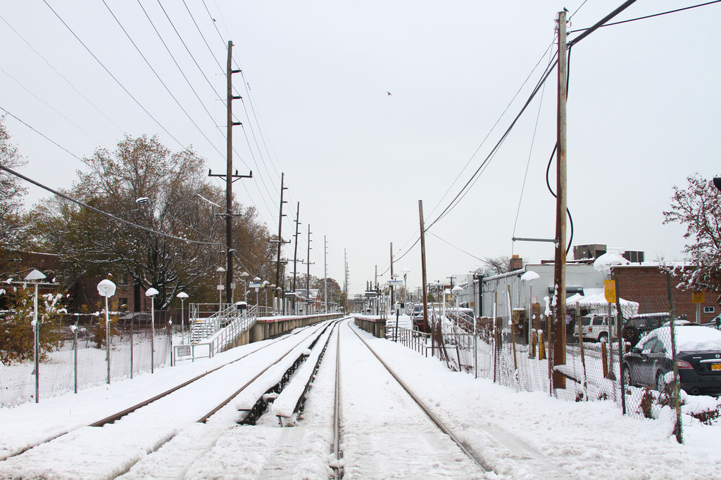 Metropolitan Transportation Authority officials said they may have to clear snow from tracks and the third rail Friday evening.