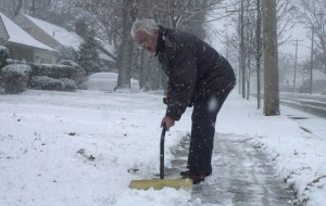 Shoveling snow is hard work. The nonprofit Snow & Ice Management Association has suggestions to avoid injury.