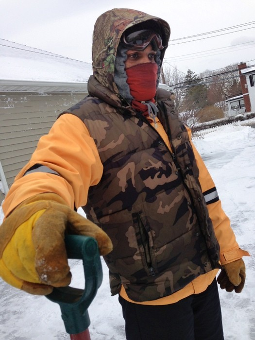 Jermaine Ewell of Inwood headed to East Rockaway to help friends shovel.