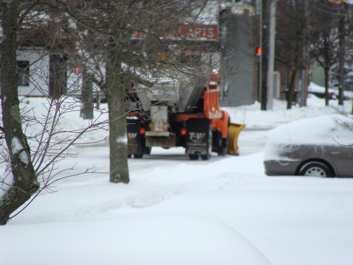 Plowing on Phipps and Atlantic avenues in East Rockaway.