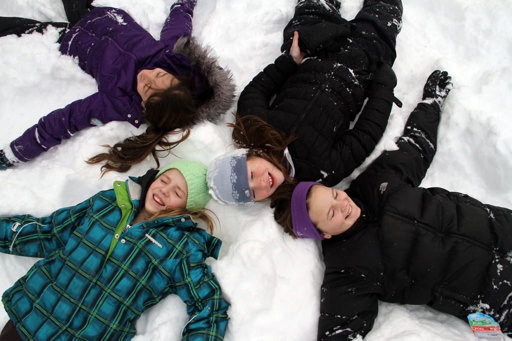Colleen Knoblach celebrated her snowy birthday with friends Katie