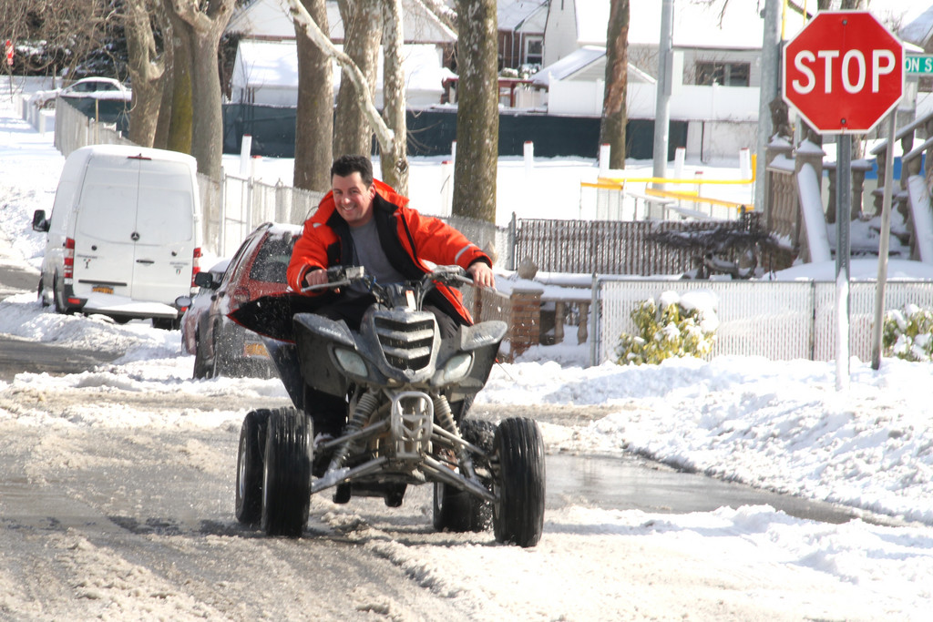 Mike Buttigieg couldn't wait to get his ATV in the snow.