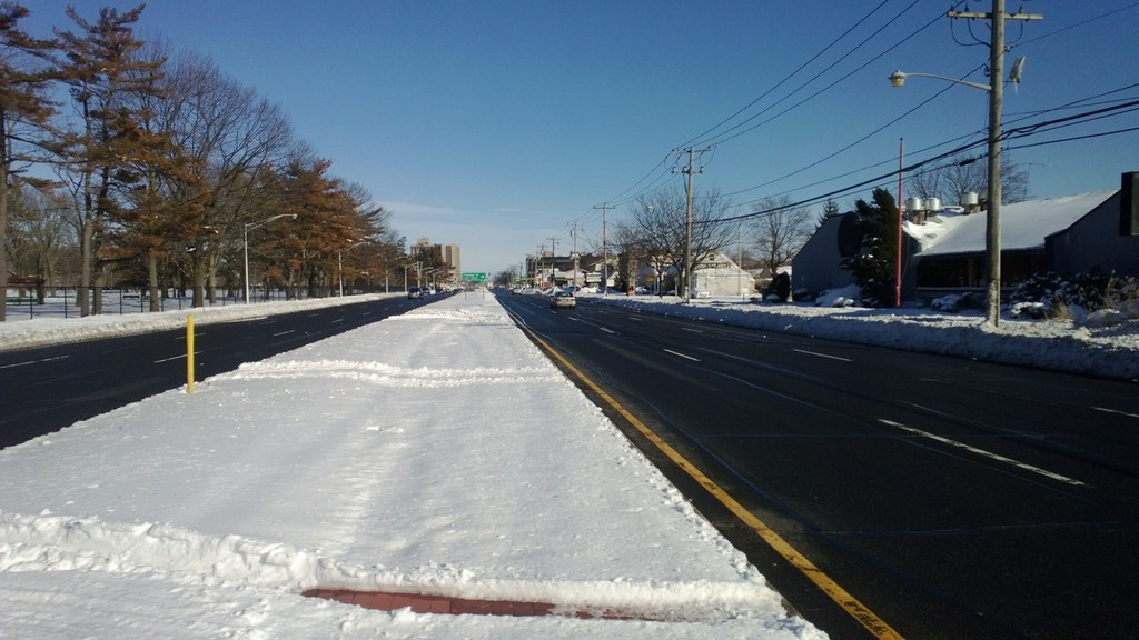 Hempstead Turnpike was cleared by Saturday morning.