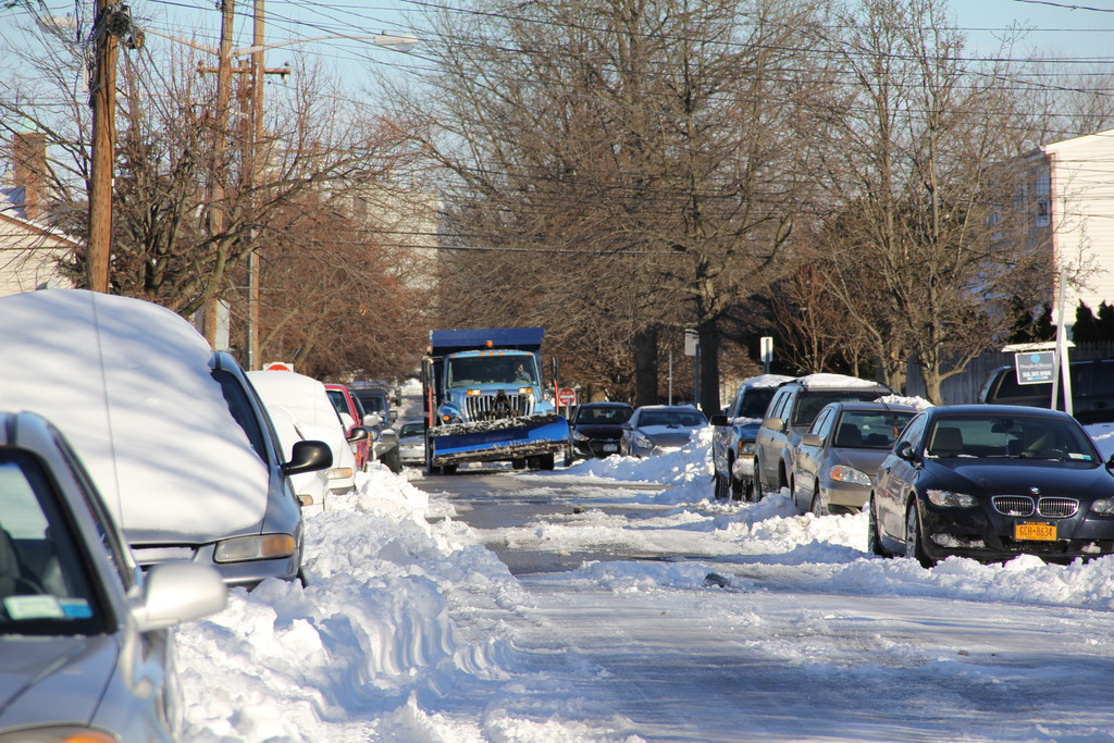 This plow cleared Phoebe Street while others all over town continued to clear the snow