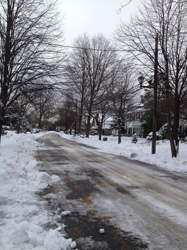 Harold Street in Woodmere on Saturday after Nemo struck the Five Towns.