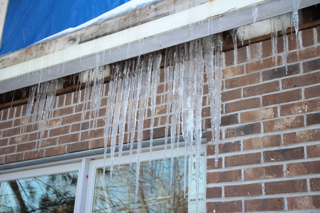 Icicles formed as temperatures dropped into the 20s and hung from a home in Woodmere after Winter Storm Nemo.