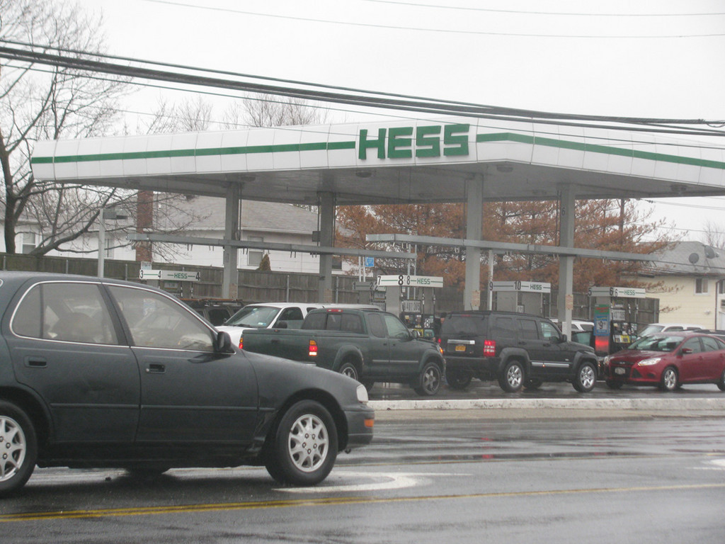 On Friday morning, cars were lined up for as long as an hour, waiting for gas. Some drivers eventually had to buy premium because everything else was sold out