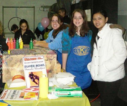 Students help out during the event