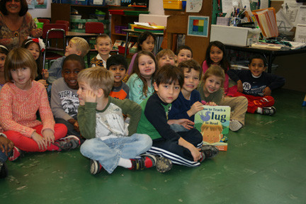 (R) Mrs. Eckers' class at School #6 enjoyed reading about how to teach a slug to read.