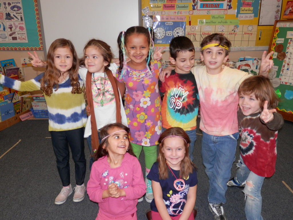 Hippie Day was one of the theme days at the James A. Dever School during No Name Calling Week.