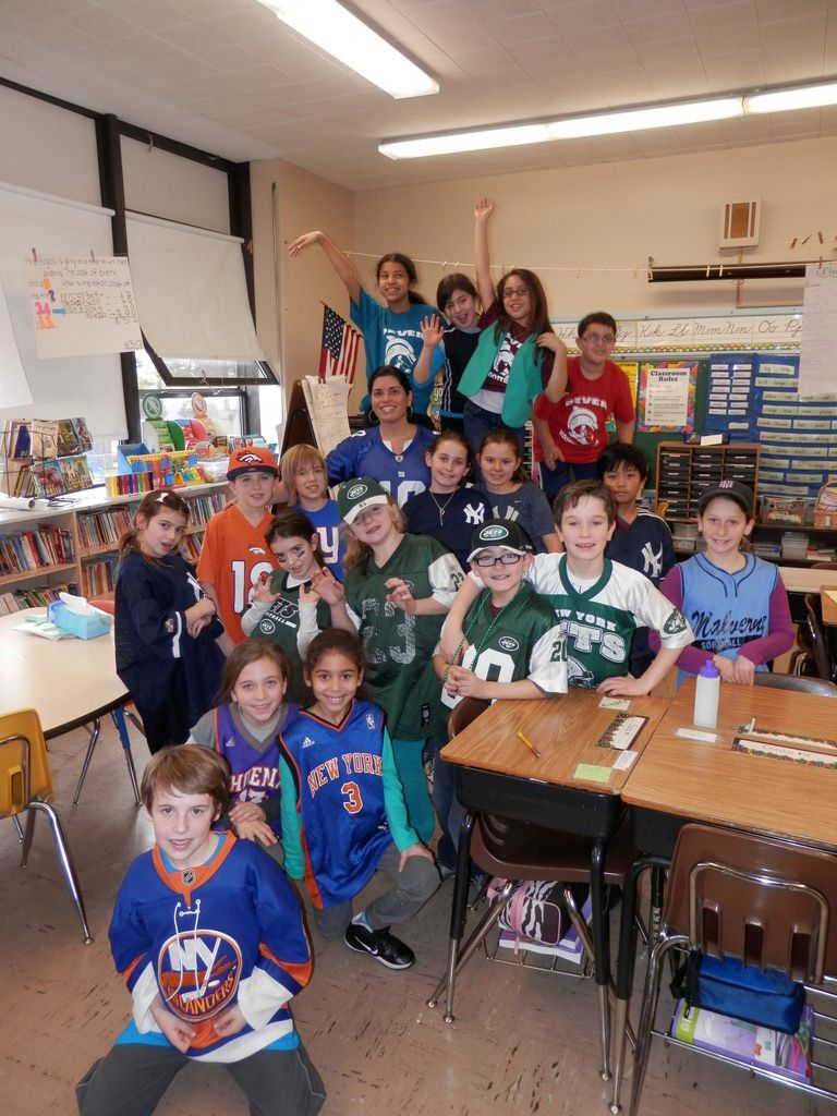 Sports Jersey Day was one of the theme days at the James A. Dever School during No Name Calling Week.