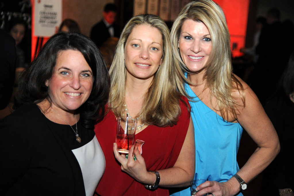 Roberta Gochman, Dawn Molinari and Kerry Doyle, from left, enjoyed the festivities at the Robbie Levine Foundation's annual Dealing with Hearts Gala.