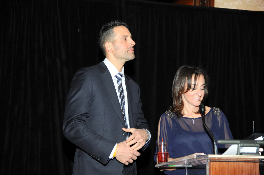 Craig and Jill Levine, founders of the Robbie Levine Foundation, spoke to the crowd of supporters at the gala.