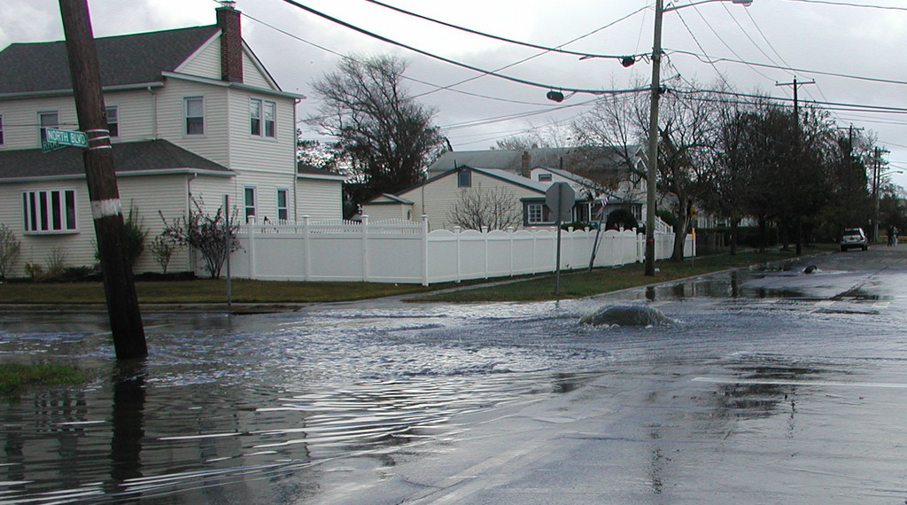 two weeks after Hurricane Sandy, sewage breaches occurred at North Boulevard in Bay Park, above, and on Barnes Avenue in Baldwin.