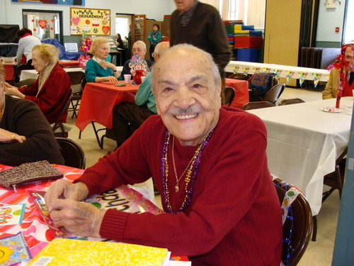 Paul Sci, 100 years old on Valentine's Day