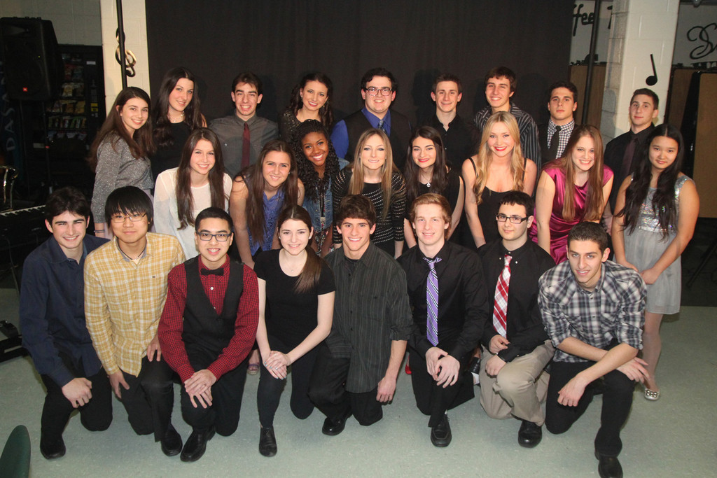 The performers of LHS�s 12th annual Cabaret Night posed for a picture prior to the beginning of the show.