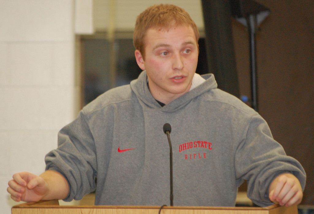Nick Novello, a 2008 South High School graduate, urged the board not to cut a sport that helped earn him a college scholarship.