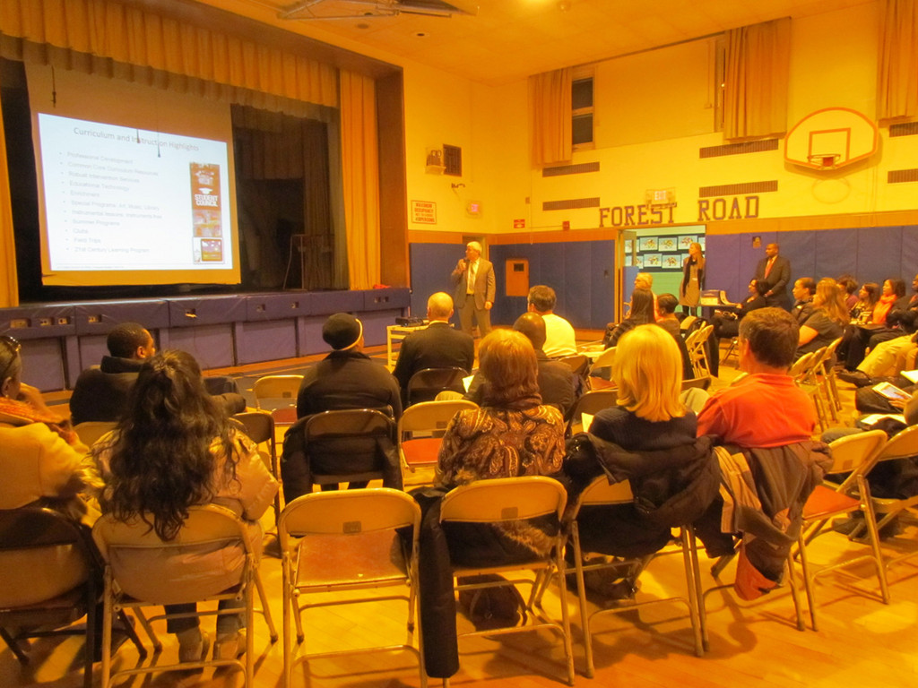 District 30 residents listened in as Assistant Superintendent for Curriculum Gerard Poole talked about the academic portion of the budget on Feb. 13.
