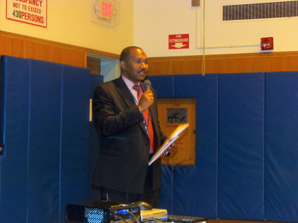 Dr. Nicholas Stirling made his first budget presentation as District 30 superintendent.