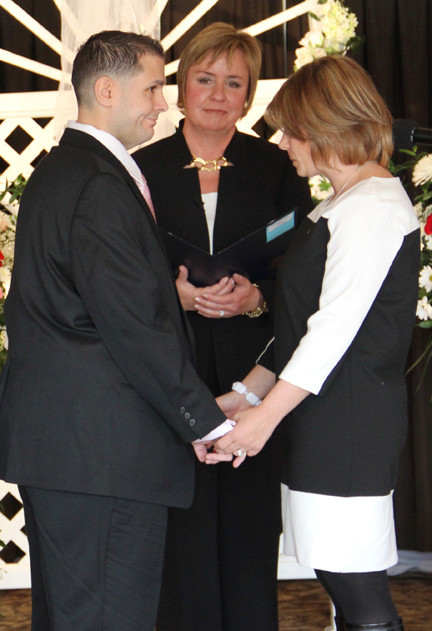 Andrew and Christine were among those who renewed their vows. Hempstead Town Supervisor Kate Murray officiated.
