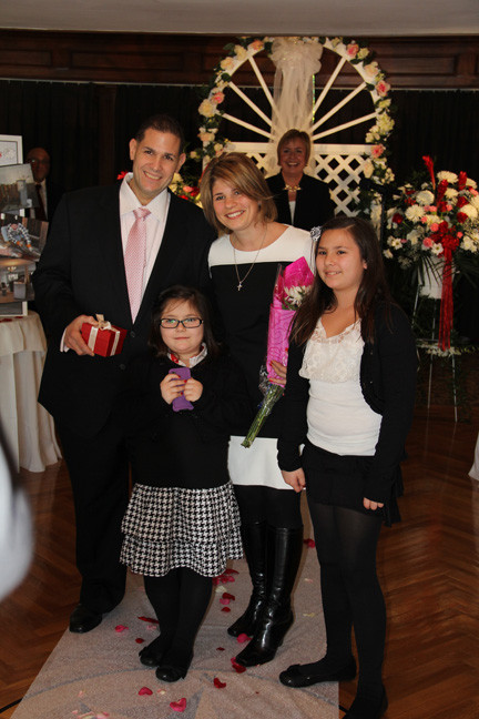 The Polizzis, with their daughters Isabella and Adrianna, made it a family affair.