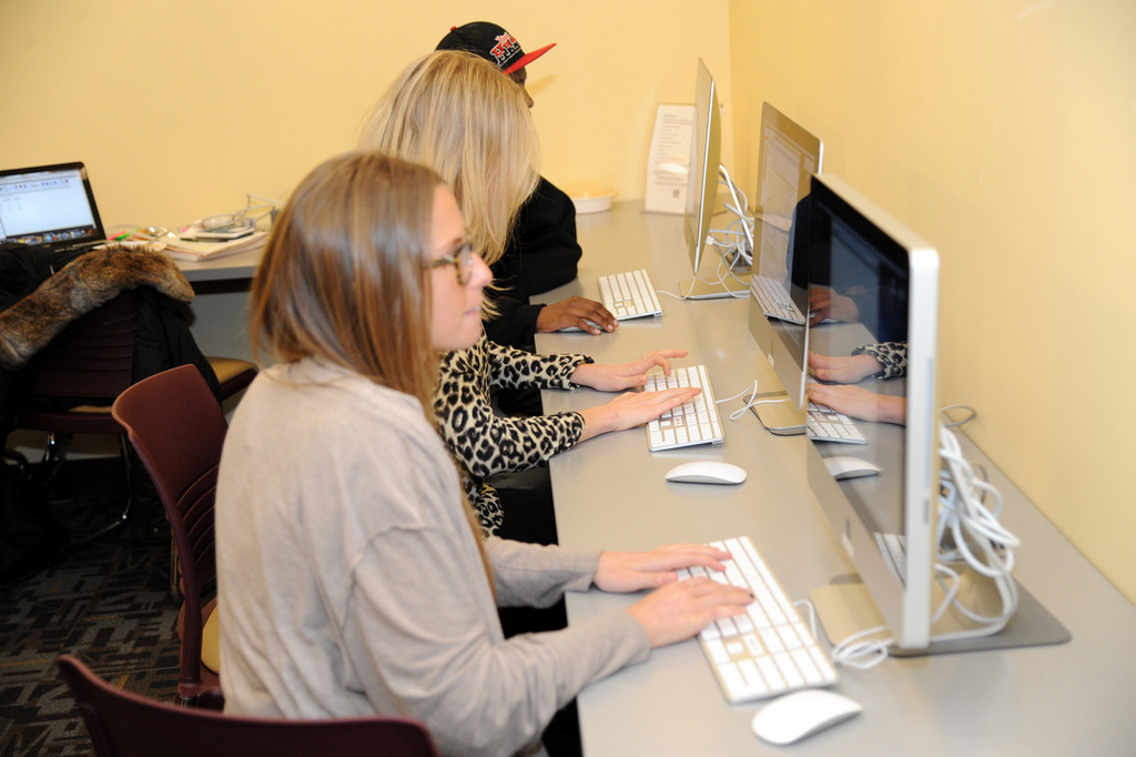 Guishard Bastin, 14, Mariel Plutno, 22, and Alyssa Borenstein, 22 recently took advantage of the three new iMac 