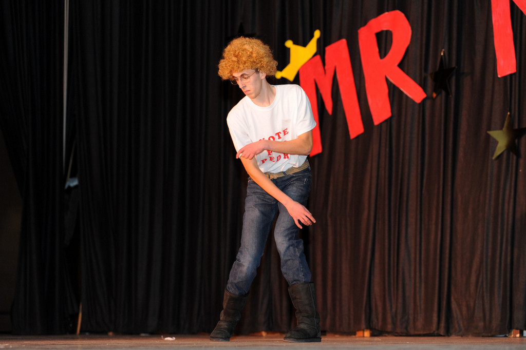 "Student Brian Keohane performed a ""Napoleon Dynamite"" inspired dance."