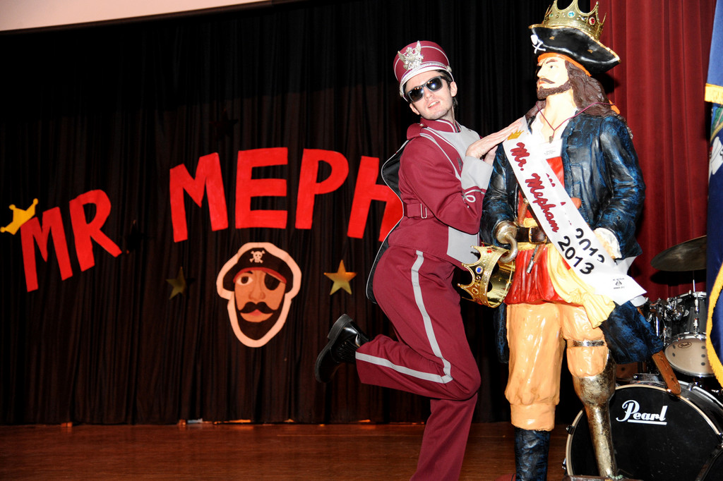 Casey Getzler strutted his stuff in an effort to be named the student �Mr. Mepham.�