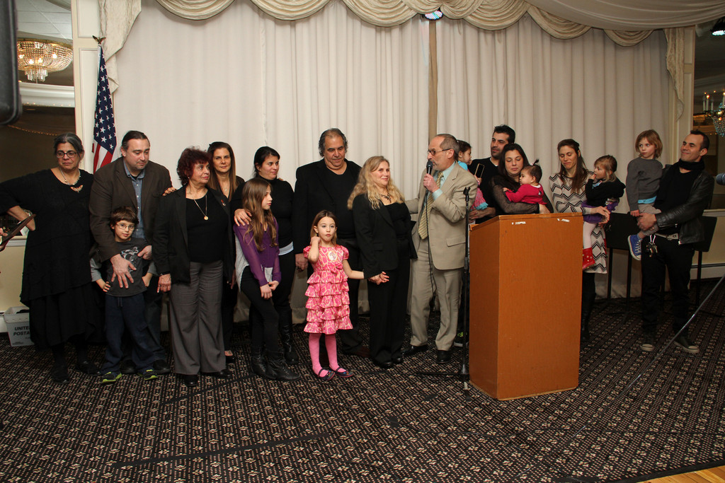 The Mazzitelli family, of Atlantic Beach, was honored at the first-ever Lawrence School District Music Parent Organization fundraiser dinner.