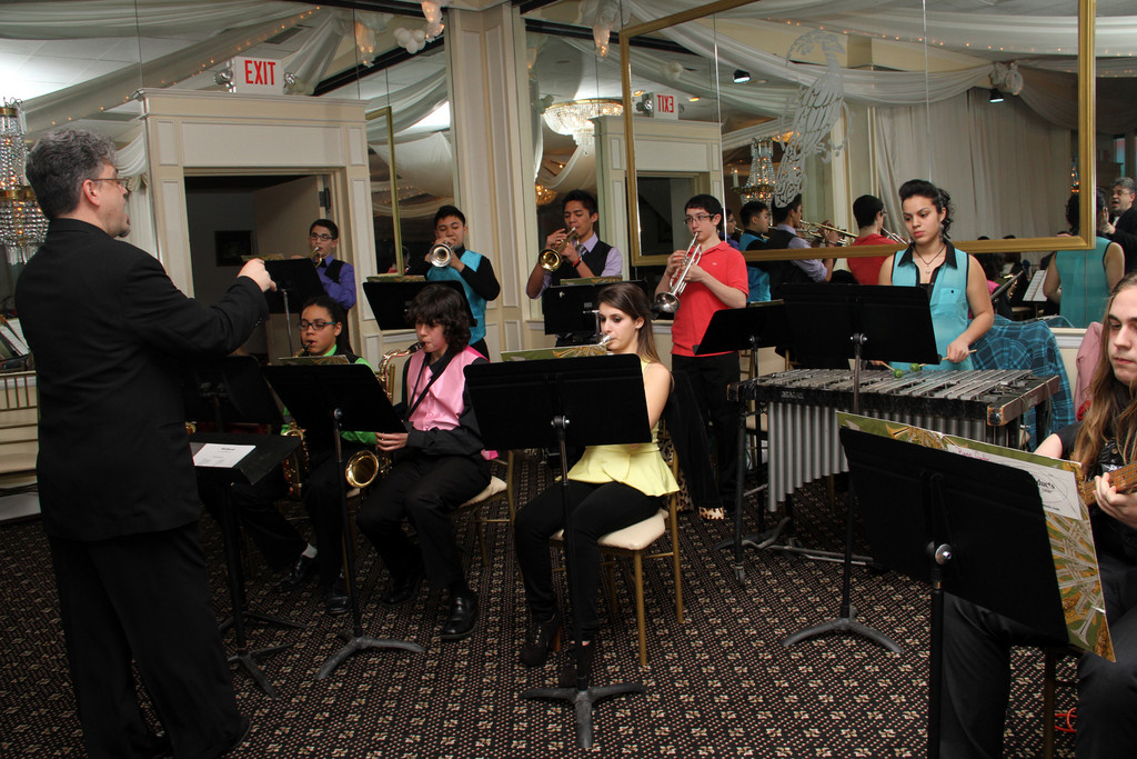 The Lawrence High School Jazz Band performed at the dinner.