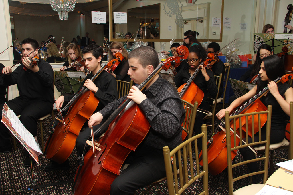 The Lawrence High School Chamber Orchestra entertained attendees at the dinner.